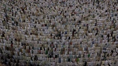 Prayer time at at Holy Mosque, Mecca, Saudi Arabia Stock Footage