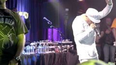 Stock Video Footage of Mobb Deep performing Survival of the Fittest on stage at BB Kings in NYC