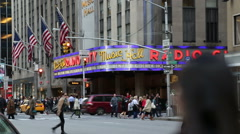 Radio City NY Stock Footage