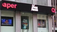 Fox news building NY Stock Footage