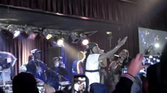 Smif-n-Wessun Cocoa Brovas smartphones crowd performing slow motion BB Kings NYC Stock Footage
