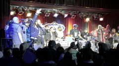 Smif-n-Wessun (aka Cocoa Brovaz) onstage (no audio) in slow motion BB Kings NYC Stock Footage