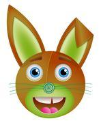 Bunny toy. - stock illustration