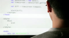 Stock Video Footage of Computer programmer at work coding