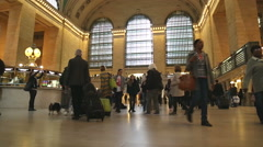 Human traffic inside Grand Terminal NYC Stock Footage
