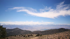 4K 3 Axis Motion Control Time Lapse of Clouds over Alpine Mountain Range - stock footage