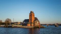 Navigator tower building, gateway to hamburg - DSLR Hyperlapse Stock Footage