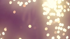 Shining lights and sparkling twinkling fireworks Stock Footage
