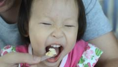 Little girl eat ice cream Stock Footage