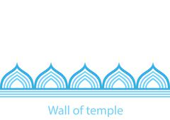 Wall of temple - stock illustration