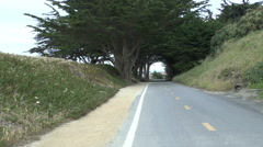 An Emtpy Bike Trail in Monterey Stock Footage