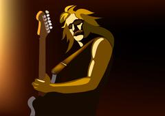 Rock musician Stock Illustration