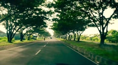 Road by the ocean at Bali Stock Footage