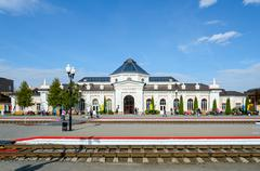 Railway station in Mogilev, Belarus Stock Photos
