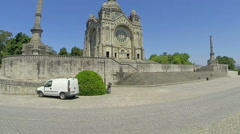 Santa Luzia basilic in Viana do Castelo (north Portugal) Stock Footage