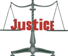 Symbol of justice on a scale at the same weight Stock Illustration