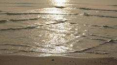 Sun light reflect on many sea water waves Stock Photos