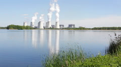 Jaenschwalde Power Station, Brandenburg, Germany Stock Footage
