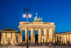 Berlin - AUGUST 4, 2013: Brandenburg Gate on August 4 in Germany - stock photo