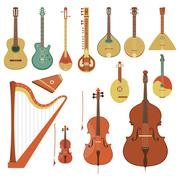 String musical instruments - stock illustration