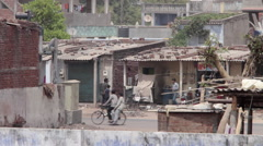 Rural Slum Road of Gujarat India Stock Footage