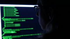 Computer Hacker Stock Footage