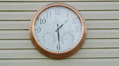 Clock Timelapse - stock footage