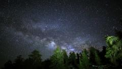 5K Astrophotography Time Lapse of Milkyway & Bristlecone Pine Forest into Dawn Stock Footage