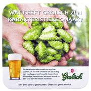 Beer coaster for advertising for Grolsch volmout. - stock photo
