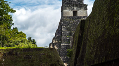 Clouds Behind Mayan Temple Time Lapse 02 Stock Footage
