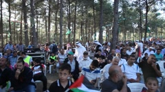 Arab Israelis gather for Nakba Day or Day of the Catastrophe commemoration Stock Footage