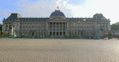 The Royal Palace of Brussels building, Palais Royal de Bruxelles Belgium Stock Footage