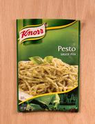 Pesto sauce mix Stock Photos