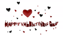Happy Valentines Day Graphic Stock Footage