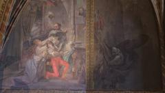 Old Painting Albrechtsburg Meissen Stock Footage