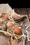 Some fresh Eggs - stock photo