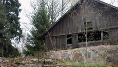 Abandoned shed Stock Footage