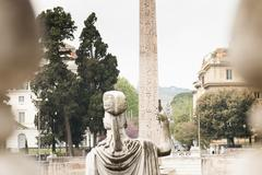 statue of the goddess Roma - stock photo