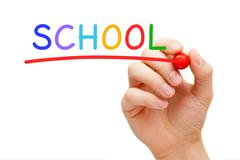 School Red Marker Stock Photos