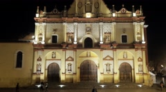 Colorful cathedral in Mexico Stock Footage