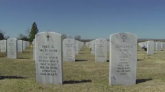 Military grave markers Stock Footage