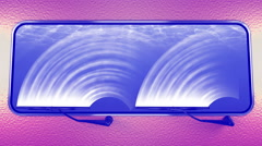 Windscreen wiper, underwater. 4K, seamless loop. Stock Footage