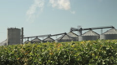 Ethanol Production Plant and Corn Field - stock footage