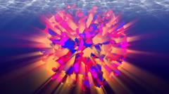 Colorful animated sphere, underwater. 4K, seamless loop. Stock Footage