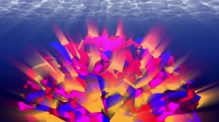 Colorful abstraction underwater. 4K, seamless loop. Stock Footage