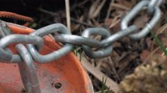 Heavy metallic chain Stock Footage