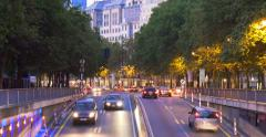 Brussels Bruxelles EU city night street transport traffic, Belgium Stock Footage