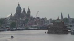 Amsterdam City Oosterdok Timelapse Stock Footage