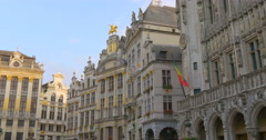 Brussels (Bruxelles) - is the capital and largest city of Belgium, main square. - stock footage