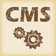 Grungy CMS settings icon Stock Illustration